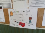 Poster in the Community Shop, One Arm Point (G. Howell)