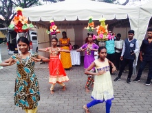 Impressive head-dress balanacing from these young dancers from Mullaitivu district.